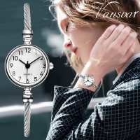 Vansvar luxury brand fashion silver women watches Casual Quartz Stainless Steel Band Bracelet Watch Analog Wrist Watch A40
