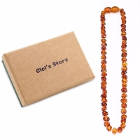Baltic Amber Teething Necklace/Bracelet for Baby Size 14-35cm - Gift Box - 4 Colors - Ship from US&UK&AU&CN