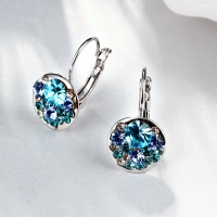 LEKANI Crystals From Swarovski heart pendant eardrop earrings Made with Austrian ELEMENTS for 2018 Mother's Day women gift