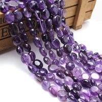 Natural Stone Beads 8-10mm Irregular Amethyst Purple Crystal Stone Beads For Jewelry Making Bracelet Necklace 15inches