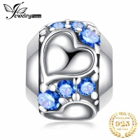 JewelryPalace Heart Love 925 Sterling Silver Bead Charms Silver 925 Original For Bracelet Silver 925 original For Jewelry Making