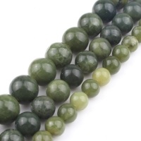 Natural Stone Beads AAA+ Genuine Canada Jade Beads For Jewelry Making 15inch 6/8/10/12mm Spacer Beads Diy Jewelry