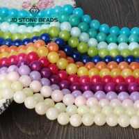 14 Colors Free Shipping Colorful Cloud Jade 4/6/8/10/12/14mm Pick Size GEM Stone Beads Accessories For Fine Jewelry Making