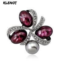 Vintage Pearl Natural Agate Stone Brooches For Women Crystal Brooch Pins Female Brooch For Wedding Bouquets Jewelry Dropshipping