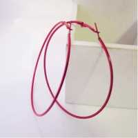 6 Colors Red Pink Black White Blue Purple Sexy Big Circle Hoop Earrings for Women piercing Jewelry Diameter 6 cm