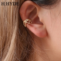 H:HYDE Vintage Clip Earrings Jewelry for Women Geometric Crown Waterdrop Heart Shapes Ear Cuff Chain Earrings DY