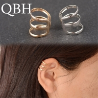 Vintage punk style hollow U-shaped ear clip earrings non pierced ear bone invisible men and women jewelry clip de oreja
