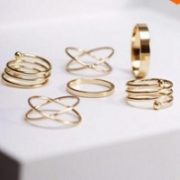 2019 Hot Unique Ring Set Punk  Knuckle Rings for women Finger Ring 6 PCS Ring Set Best Selling