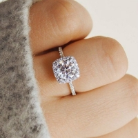 New Trendy Crystal  Engagement Claws Design Hot Sale Rings For Women AAA White Zircon Cubic elegant rings Female Wedding Jewelry