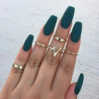 2019 new fashion popular ECG women's ring 5 piece set ring wholesaleWomen Wedding Rings For