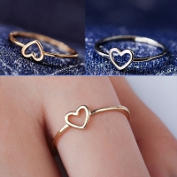 Golden Hollow Out Beautiful Silver Wedding Couples Heart 1PC Ring Bride Size6 7 8 9 10 Scarf Accessories Valentines Gift