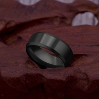 8mm Stainless Steel Ring Men High Quality Fashion Jewelry Ring Men Titanium Black