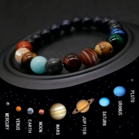 2019 Eight Planets Bead Bracelet Men Natural Stone Universe Yoga Chakra Solar System Bracelet for Men Jewelry Drop Shipping MY3