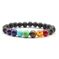 2020 Newst 7 Chakra Bracelet Men Black Lava Healing Balance Beads Reiki Buddha Prayer Natural Stone Yoga Bracelet For Women