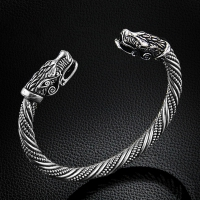 LAKONE Teen Wolf Head Bracelet Indian Jewelry Fashion Accessories Viking Bracelet Men Wristband Cuff Bracelets For Women Bangles
