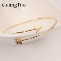 L152 New Fashion Bijoux Pulseiras Statement Gothic Punk Charm Open Adjustable Arrow Cuff Bracelets Bangles Women Jewelry Gift