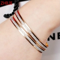 1PCS 2017 New Fashion Double Frosted Bangle Female Bracelet Free Shipping Christmas Gifts Women Bracelet