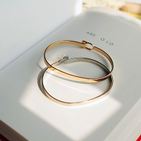 Minimalist fashion personality contracted fine gold bracelet Women's fashion beautiful bracelets free send a bracelet
