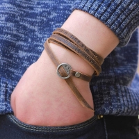 Vintage Bracelet Men  Multilayer Leather Men Bracelet Fashion Braided Handmade Star Rope Wrap Bracelets & Bangles pulsera mascul