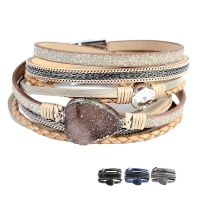 Artilady  wrap leather bangle charm men bracelet women fashion bracelet 2019 jewelry Idear Gifts for Mom, Sisters and Friends