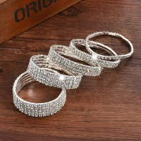 Sale 2018 multiple styles Fashion Crystal Stretch Shine Bracelets For Women couple Girlsfriend Bangles Wedding Bridal Gift