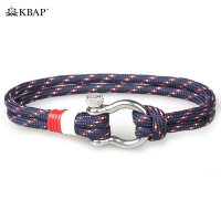KBAP Women Men Fashion Rope Wrap Bracelet Nautical Marine Survival Wristband Bracelets Bangles Friendship Favor Gifts for Boy