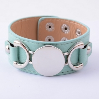 Rainbery  Monogram Leather Bracelet Fashion Jewelry Pulseras 3 Row Multicolor Leather Cuff Bracelet For Women Men