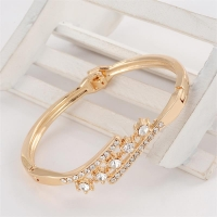 MINHIN Delicate High Grade Created Crystal Decoration Bracelet Beautiful Women Accessory With Shinning Synthetic Rhinestone