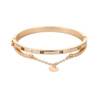CHENFAN Roman love bracelet Bracelets women Numeral Peach Heart Temperament Every Match Bracelet for women Trend Jewelry
