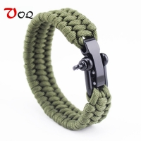 Outdoor Camping Survival Bracelet Men Climbing Sport Parachute Cord Adjustable Stainless steel Buckle Friendship Bracelets Male