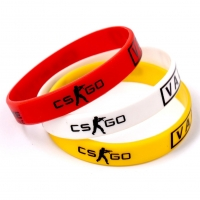 Game Play CS GO Silicone Rubber Diabetes CSGO Counter Strike Red Yellow White Cross Fire Braclet