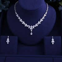Newest Luxury Sparking Brilliant Cubic Zircon Clear Necklace Earrings Wedding Bridal Jewelry Sets &More 925 sterling silver