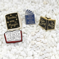 Books Are Magic The Book Was Better Just one more page Enamel Pin Hedgehog Book Pin Cartoon series badge Literature lovers gift