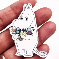 1Pcs Lovely Cartoon Acrylic Hippo Horse Brooch Clothes Icon Backpack Accessories Badges Decoration Brooches Pin For Women