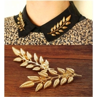 2016 New Arrival The Exquisite Fashion Leaf Brooch , Europe and America leaves retro creative shirt gold brooch z08