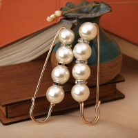 Big Beads 8 Chakra OneckOha Simulated Pearl Brooch Pin Dress Rhinestone Decoration Buckle Pin Jewelry Brooches For Men Women