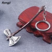 Avengers 4 Thor Axe Hammer Keychain marvel gloves iron men llaveros Key Finder Iron Man Keyring Jewelry Accessories