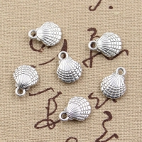 10pcs Charms double sided lovely  shell 13x10mm Antique Making pendant fit,Vintage Tibetan Silver Bronze,DIY Handmade Jewelry