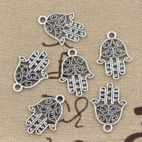 15pcs Charms Hamsa Palm Protection 20x15mm Antique Making Pendant fit,Vintage Tibetan Bronze Silver color,DIY Handmade Jewelry