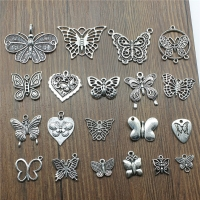 10pcs/lot Charms Butterfly Antique Silver Color Butterfly Pendant Charms Butterfly Charms For Jewelry Making