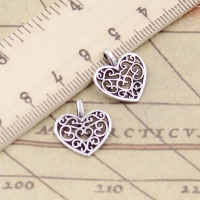 20pcs Charms Hollow Lovely Heart 16x14mm Tibetan Silver Color Pendants Antique Jewelry Making DIY Handmade Craft