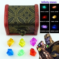 Infinity Gauntlet Thanos Infinity stones Set Of All 6 pcs Gem Acrylic charms Cosplay Props Jewelry Accessories Toy New 0101