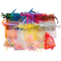 100pcs/lot Organza Bag 5*7cm,7*9cm,9x12cm Christmas Wedding Bag Candy Bags Gift Pouches Jewelry Packaging Display 23 Colors