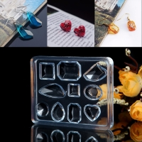 DIY jewelry tool Geometric Jewelry Mold Pendant Earring Silicone Resin Craft Making Tool Handmade decoration epoxy resin mold