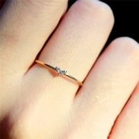 Tisonliz Simple Heart Crystal Rings For Women Female Chic Dainty Thin Rings Delicate Rings Gold Wedding Jewelry Bague Femme