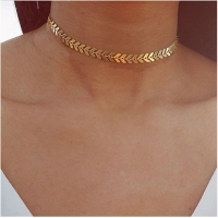 x220 Leaves Chain Sequins Choker Necklaces For Women Bohemia Style Jewelry Statement Necklaces Party Jewelry Best Gift Wholesale