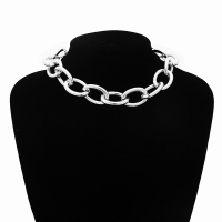 Gothic Chunky chain Choker Necklace 2020 Punk rock Statement Necklace Women goth Jewelry Vintage collier femme fashion jewelry