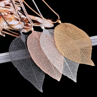 2020 Sweater Coat Necklaces Ladies Girls Special Leaves Leaf sweater Pendant Necklace Long Chain Jewelry for Womens bijou Gift
