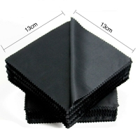 20 pcs/lot Black Microfiber Sunglasses Eyeglasses Cleaning Cloth 13*13cm Glasses Eyewear Clean Lens Cloth Accessories