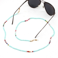 Fashion Reading Glasses Chain for Women Metal Sunglasses Cords Beaded Eyeglass Lanyard Hold Straps Eyewear Retainer